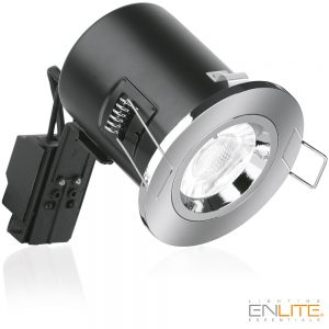 GU10 230V IP20 Niet-verstelbare, geluids dempende Brandwerende Downlight Chroom
